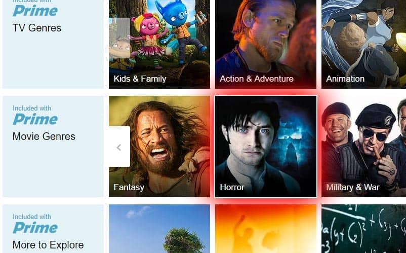 Films d'horreur Amazon Prime