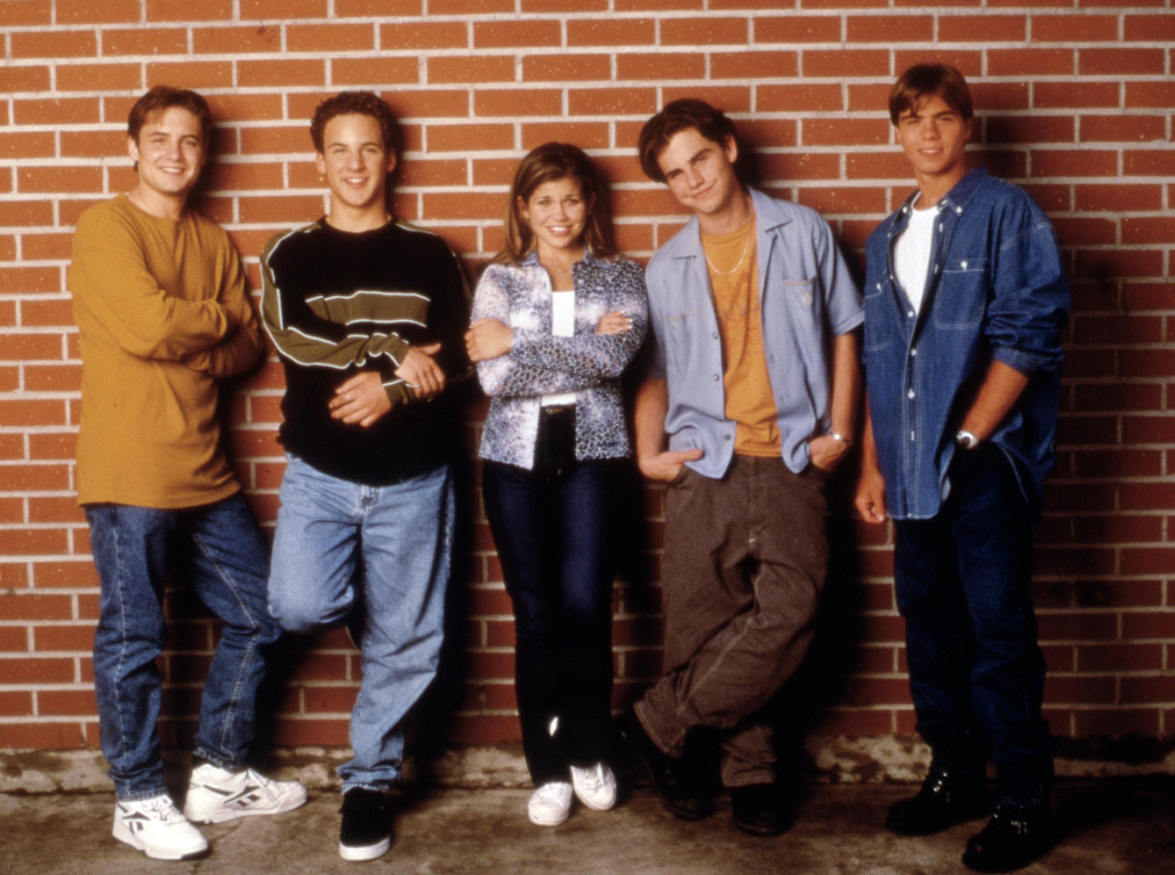 GARÇON RENCONTRE LE MONDE, Will Friedle, Ben Savage, Danielle Fishel, Rider Strong, Matthew Lawrence (1997-2000).  1993-2000.  (c) Buena Vista Television / Courtoisie: Everett Collection.