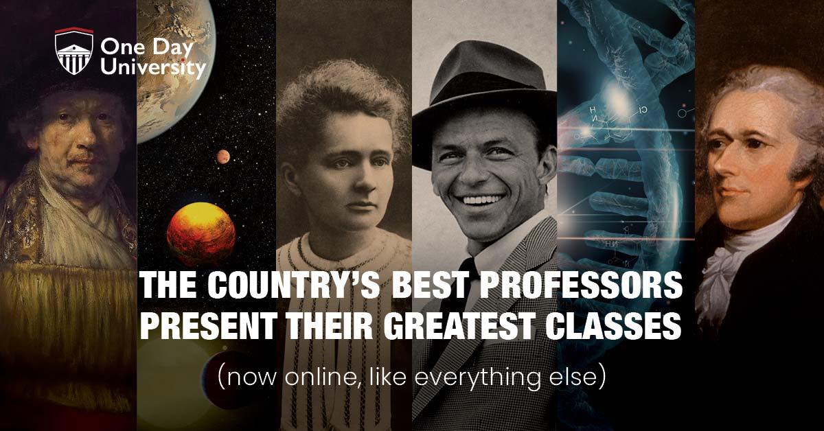 One Day University: les meilleurs professeurs du pays présentent leurs cours