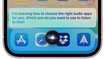 siri choisit des applications audio